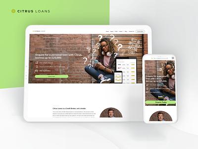Citrus Loans Landing page web deisgn ux design illustration web ux ui design