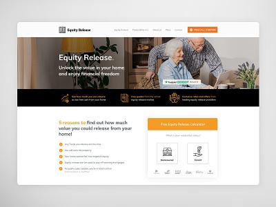 Equity Release UI/UX Landing page design web deisgn design web branding uidesign ux ui design
