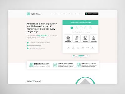 Equity Release UI/UX Landing page typography uidesign web design ux ui design