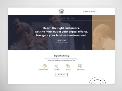 Digital agency website design app design vector illustration typography branding web ux ui design design web deisgn