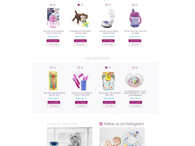 Baby Shop UK - Home Page re-design, first draft branding web deisgn ux ui design design ux