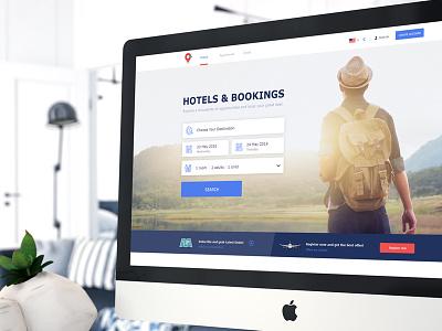 Booking Website design uidesign logo branding web ux design