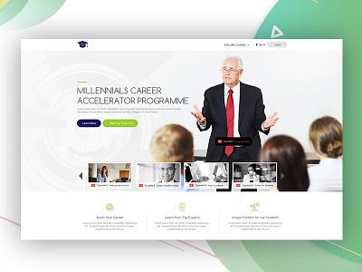 Millennials Career Accelerator Programme V1 ui web web deisgn ux ui design design