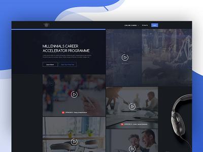 Millennials Career Accelerator Programme V2 branding ux business agency self branding couch platform video video background graphic design typography web deisgn web ux ui design