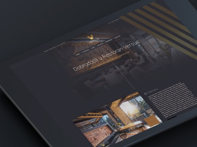 Versus restaurant illustration ux vector web uidesign web deisgn