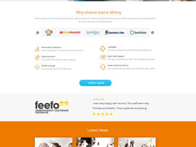 Aspire money - Home page graphic  design ux ui design web deisgn