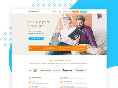 Aspire money - Home page
