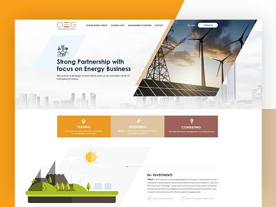 DEG Energy Website design uidesign ux logo branding design web deisgn