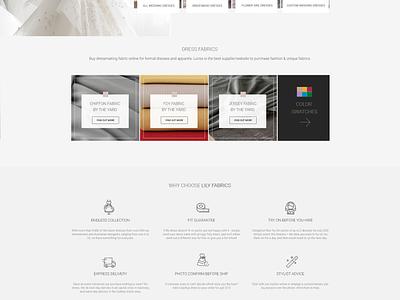 Lilly Fabrics I Custom website uidesign ux ui design ux web ui logo branding design web deisgn