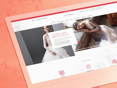 Lilly Fabrics I Custom website