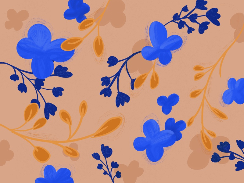 Floral 4 freehand brush stroke brushes painting procreate flowershop flowers floral pattern