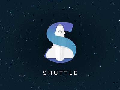 #1 Shuttle Logo star trek logo design logo illustrator illustration star wars blue dailylogochallenge scifi rocket astronaut shuttle space