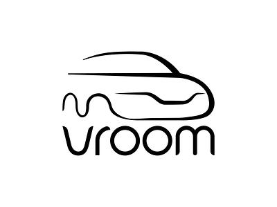 #5 Vroom tech pilot autonomous auto drone driverless simple brand logo car vroom dailylogochallengeday5 dailylogochallenge
