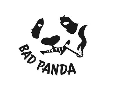 #3 Bad Panda tattoo stamp identity smoking naught animals endangered weed marijuana chinese china bad panda logo panda day3 dailylogochallengeday3 dailylogochallenge