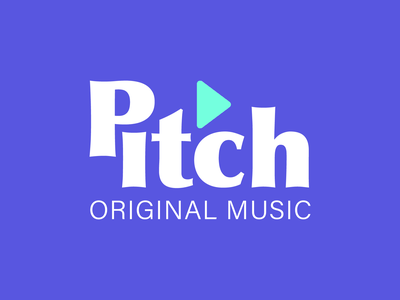 #9 Pitch: Original Music Service stremingservice bass play music playful fun dailylogo dailylogochallengeday9 pitch logo design dailylogochallenge