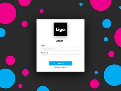 Platform Login One dribbble floating webdesign platform web design material design flat  design material assets ligo pink blue circles fun login page login design login box sign in log in login