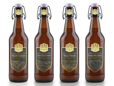 Peak Brewing Beer illustration packaging branding
