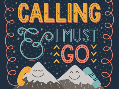 Mountains Calling graphic design illustration lettering