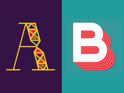 36 Days of Type: A & B letters lettering 36daysoftype