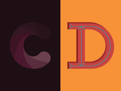 36 Days of Type: C & D typography letters lettering 36daysoftype