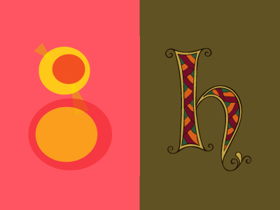 36 Days of Type: G & H letters lettering 36daysoftype