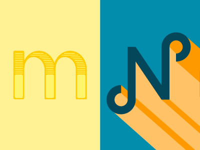36 Days of Type: M & N typography lettering 36daysoftype