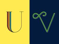 36 Days of Type: U & V