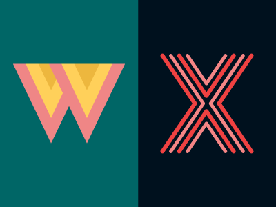 36 Days of Type: W & X typography lettering 36daysoftype