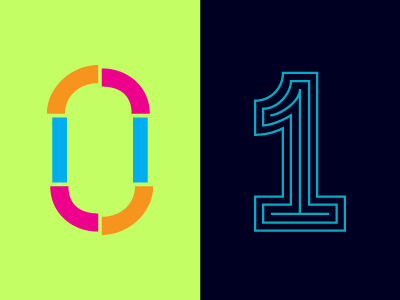 36 Days of Type: 0 & 1 typography lettering 36daysoftype