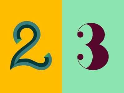 36 Days of Type: 2 & 3