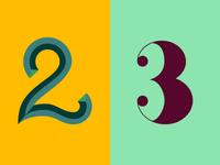 36 Days of Type: 2 & 3