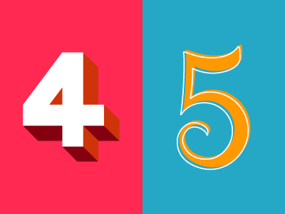 36 Days of Type: 4 & 5