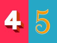 36 Days of Type: 4 & 5