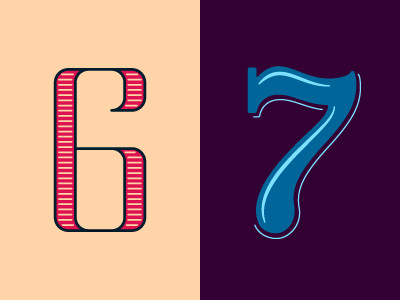 36 Days of Type: 6 & 7 lettering typography 36daysoftype