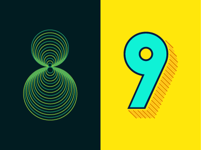 36 Days of Type: 8 & 9