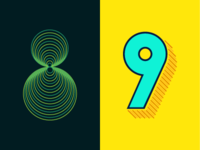 36 Days of Type: 8 & 9