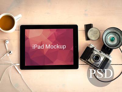 Black Ipad Mockup PSD
