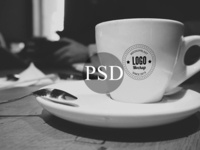 White Cup Mockup PSD
