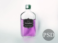 Bottle Label Mockup PSD