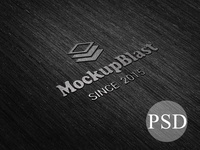 Dark Embossed Logo Mockup PSD