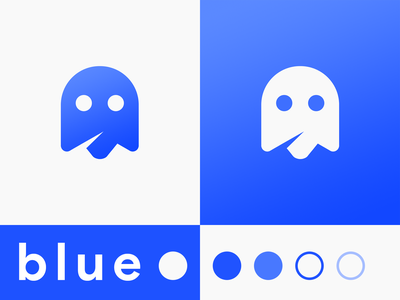 Blue Ghost Logo Design ghosts photoshop product brand flat simple vector shape ghost blue design logo
