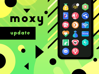 Moxy Update product icon ios icon android icon promo logo theme app design update icon pack android icons moxy