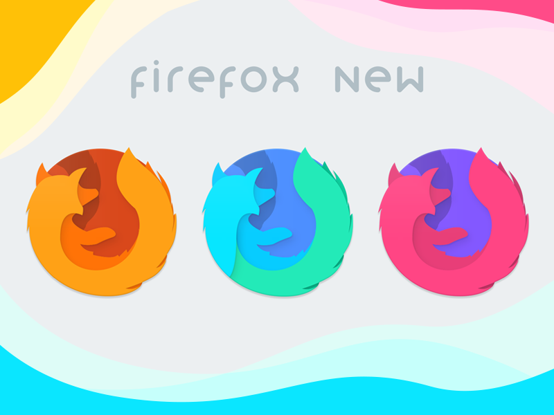 FireFox Icons Redesign refresh vector design material icon browser quantum reborn firefox