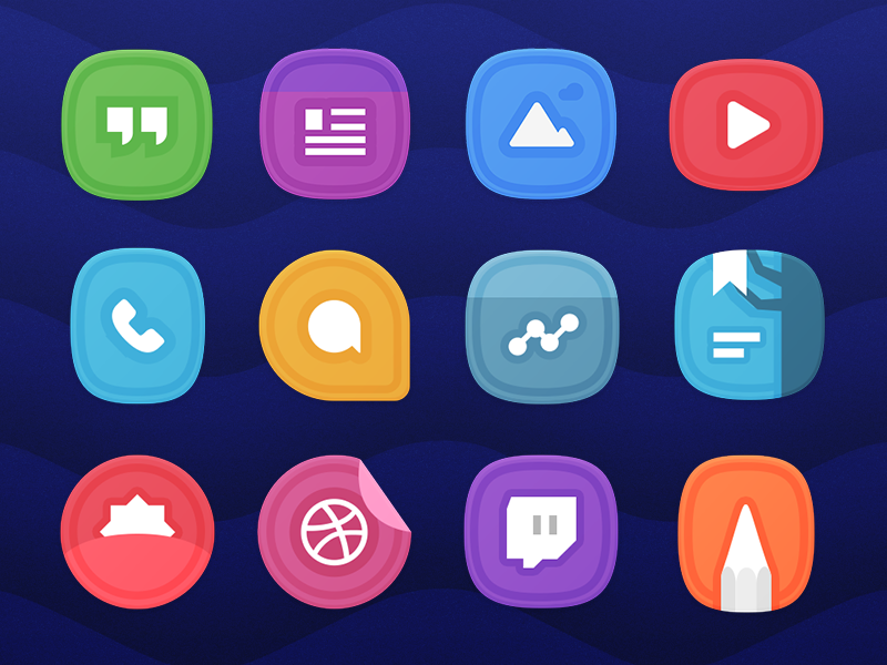 Adora UI Preview product icon icon design google icon pack android design icons