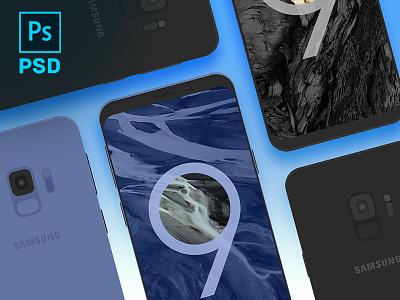 Samsung Galaxy S9 Vector PSD frame device s9 mockup download free vector s9 galaxy samsung phone psd mockup