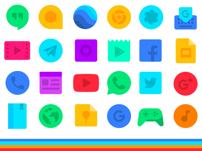 Aivy Icon Pack vibrant flat pack icons android aivy