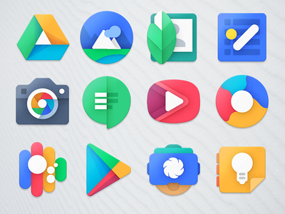 Project Unknown - Google Icons google illustrator icon vectors design android packs icons