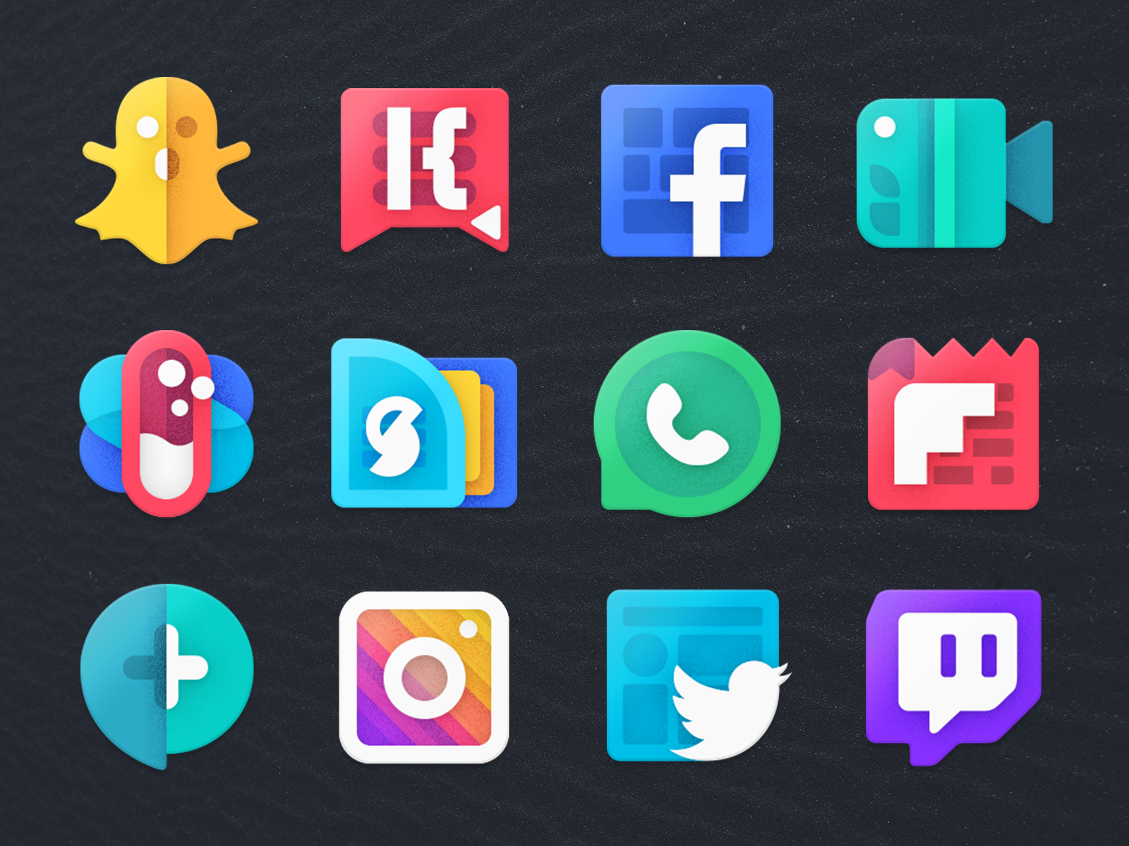 Icon Design Preview icons design icons pack icons set snapchat twitter facebook icon moxy icons photoshop illustration icon design design icons
