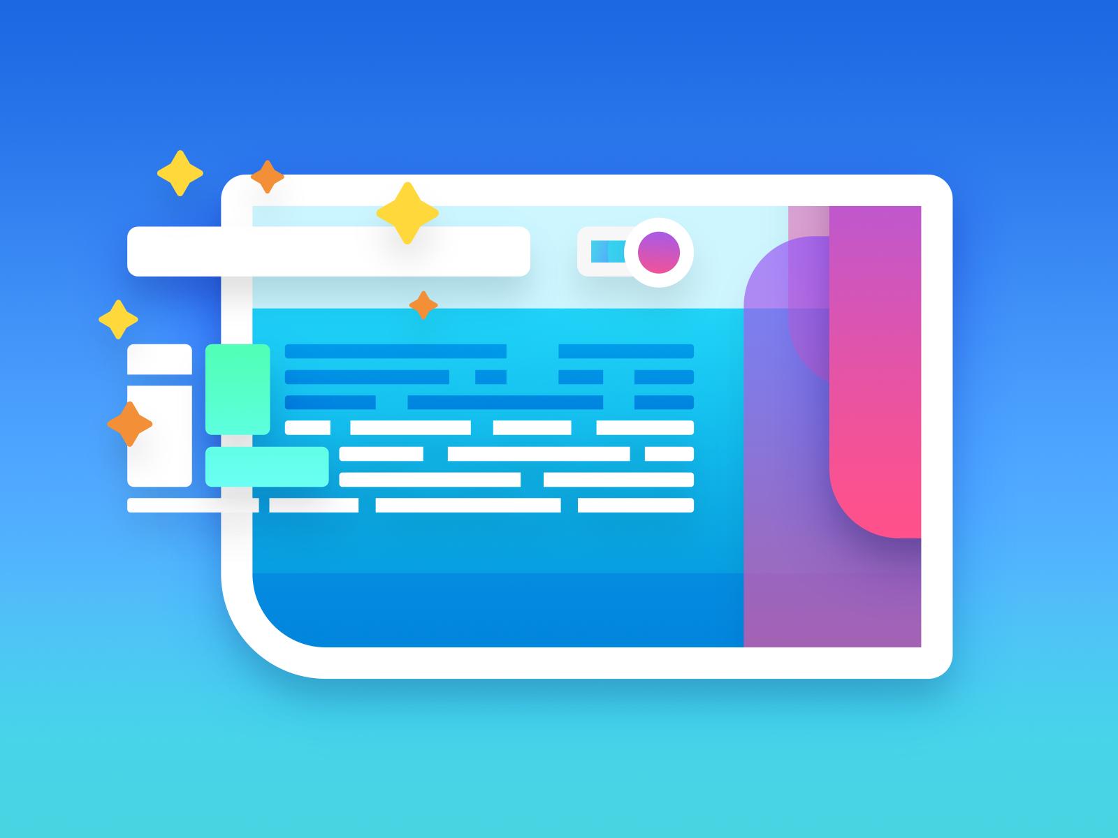 Web Design Illustration framework css html web design grids colors illustration work in action design web