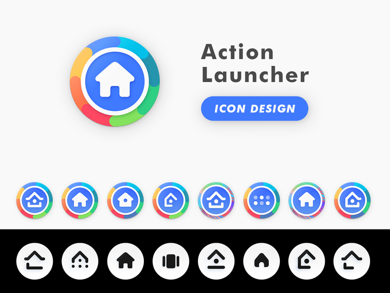 Action Launcher Product Icon Design illustration shape glyph product design icon android launcher actoin